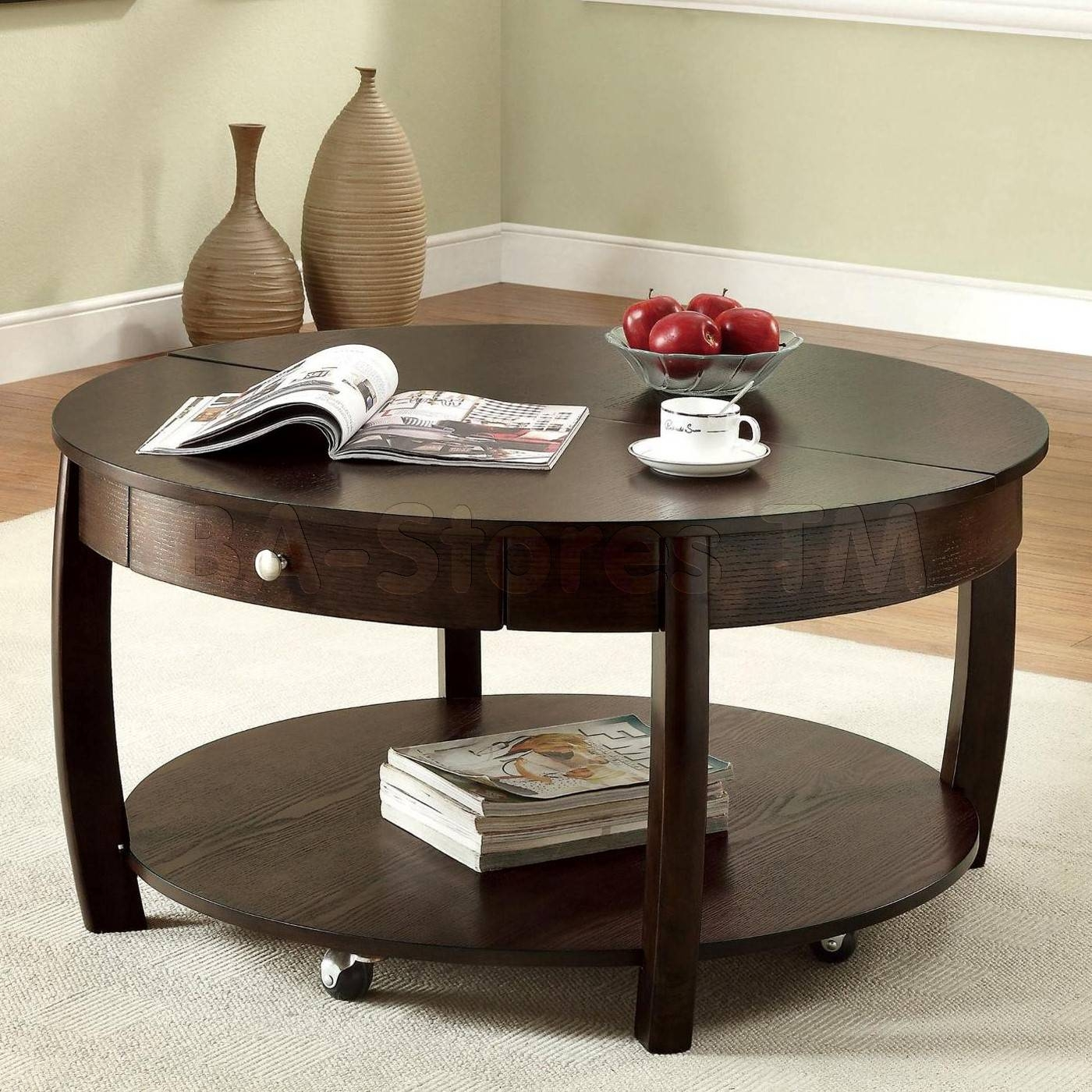 Round Coffee Table With Storage Top 30 Of Round Coffee Tables With Storages