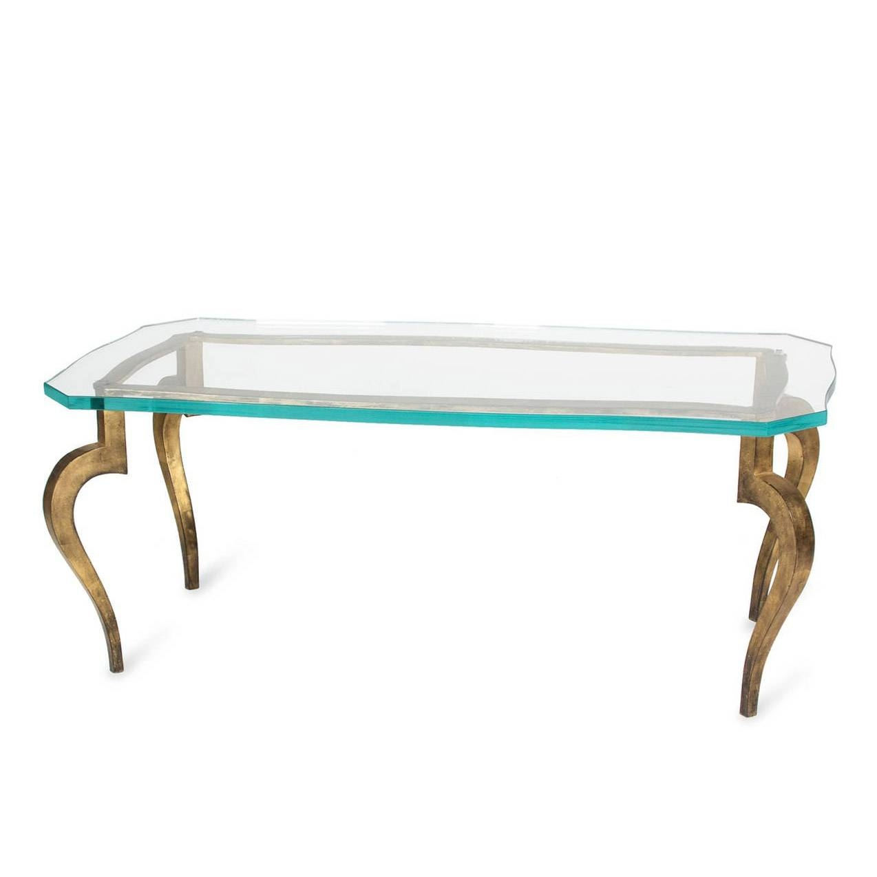 Glass Coffee Table With Gold Legs Best 30 43 Of Bronze And Glass Coffee Tables