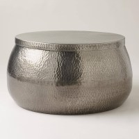 2018 Popular Hammered Silver Coffee Tables
