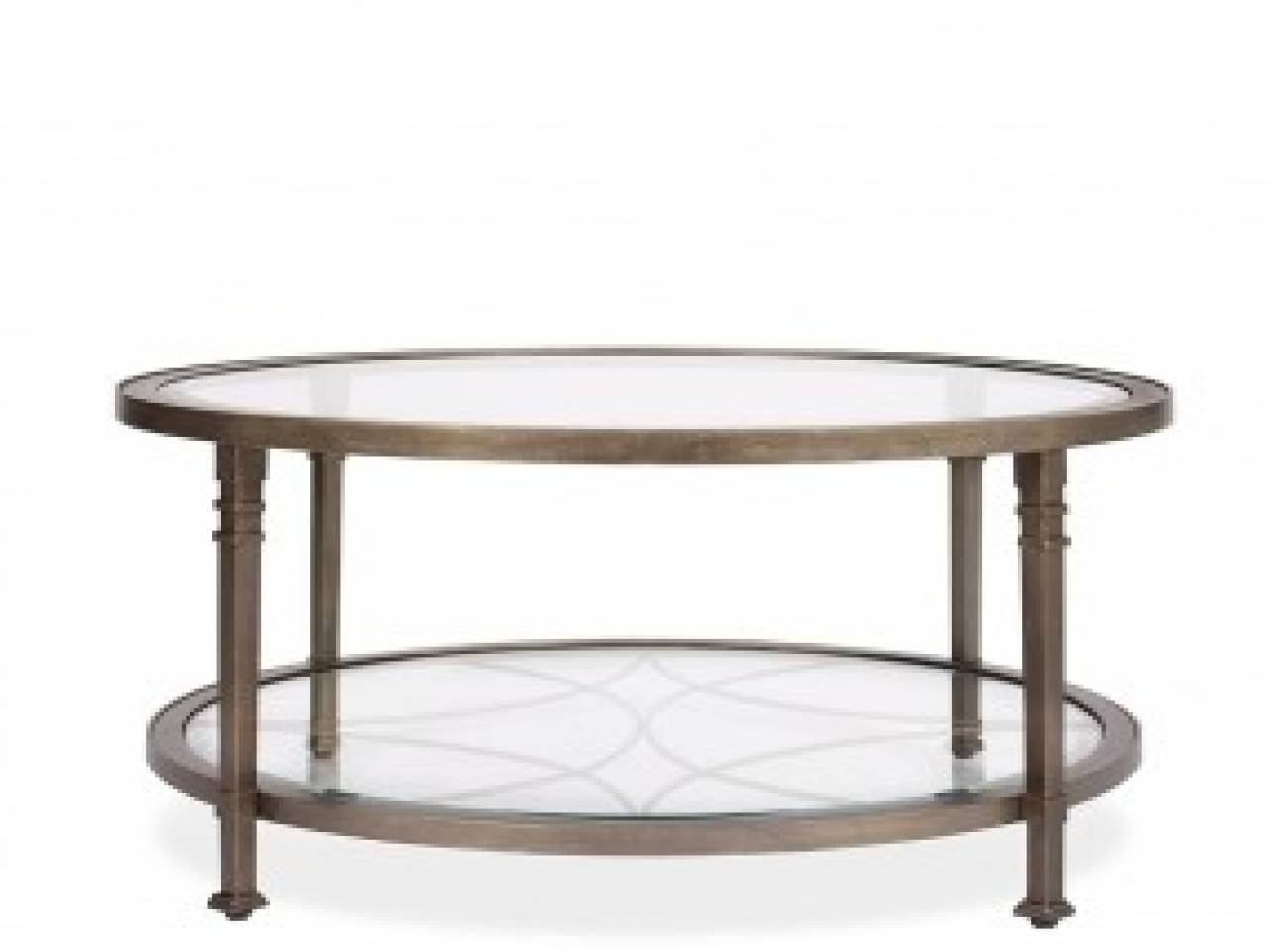 Round Industrial End Table 30 The Best Round Glass Coffee Tables
