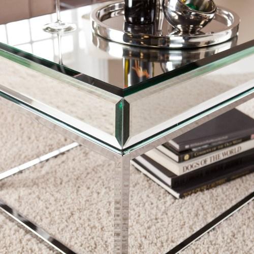 Medium Of Mirrored Coffee Table