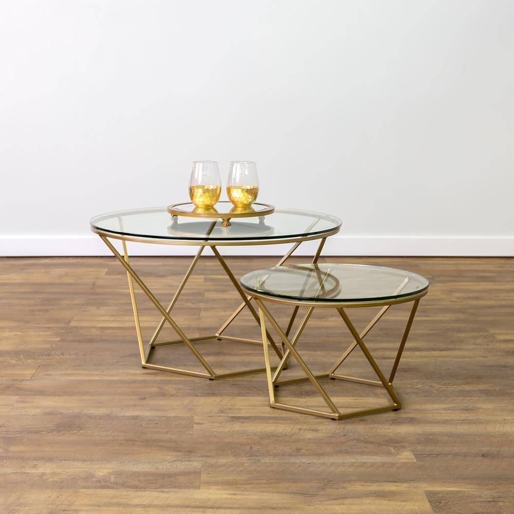 Depot Couchtisch Depot Couchtisch | 2019 Best Of Glass Gold Coffee Tables