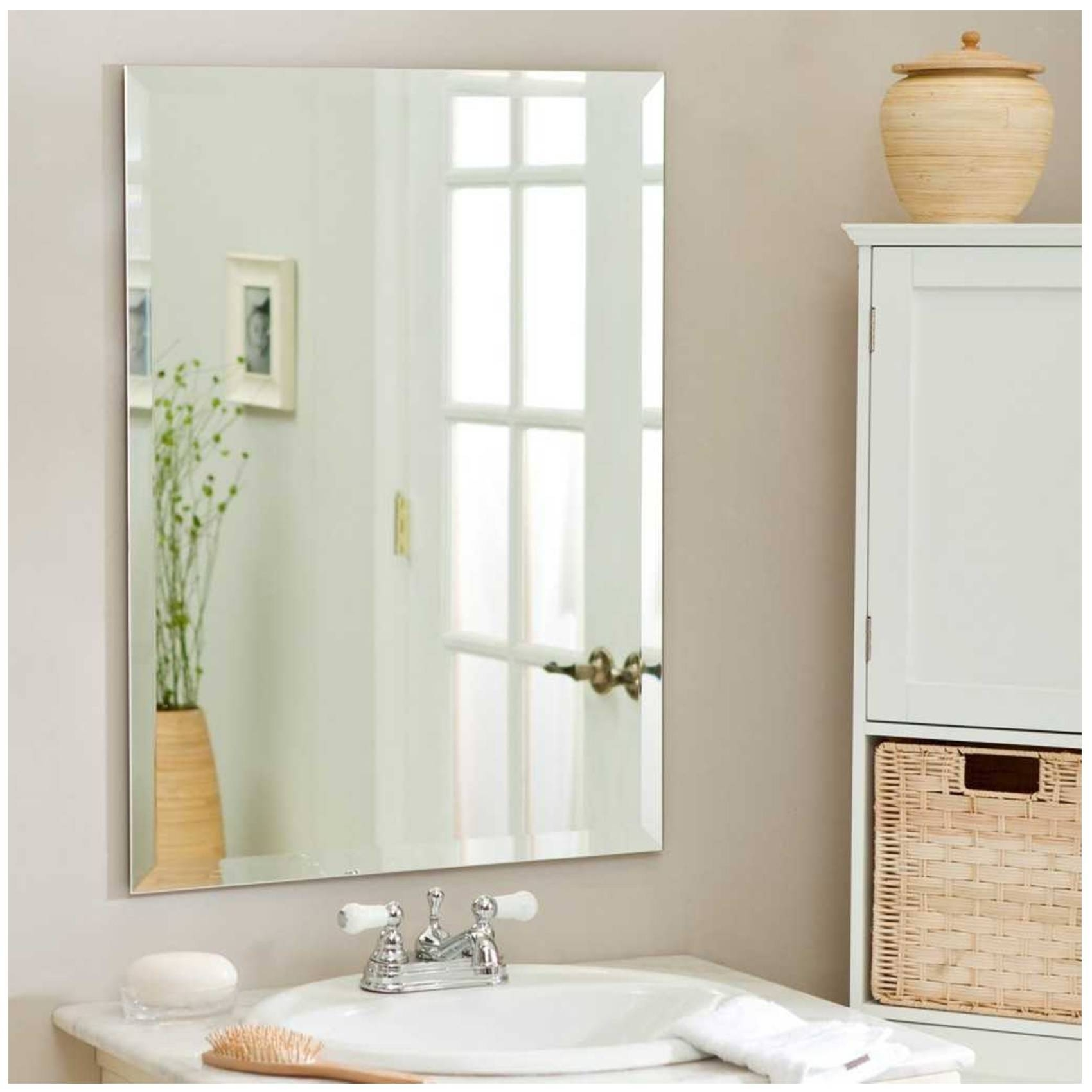 Framing A Large Bathroom Mirror 15 The Best Wall Mirrors Without Frame