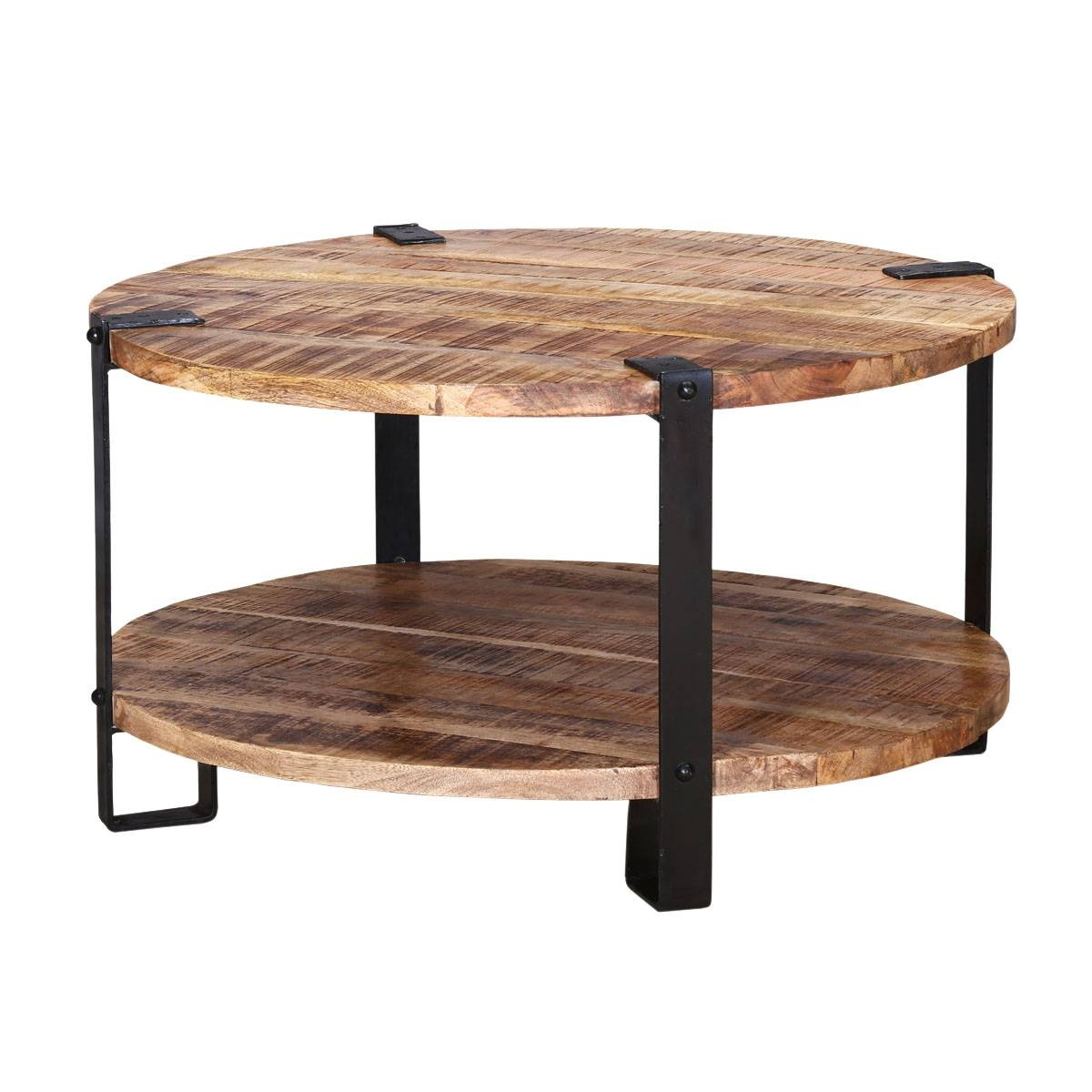 Rustic Beach Coffee Table 15 Collection Of Industrial Round Coffee Tables