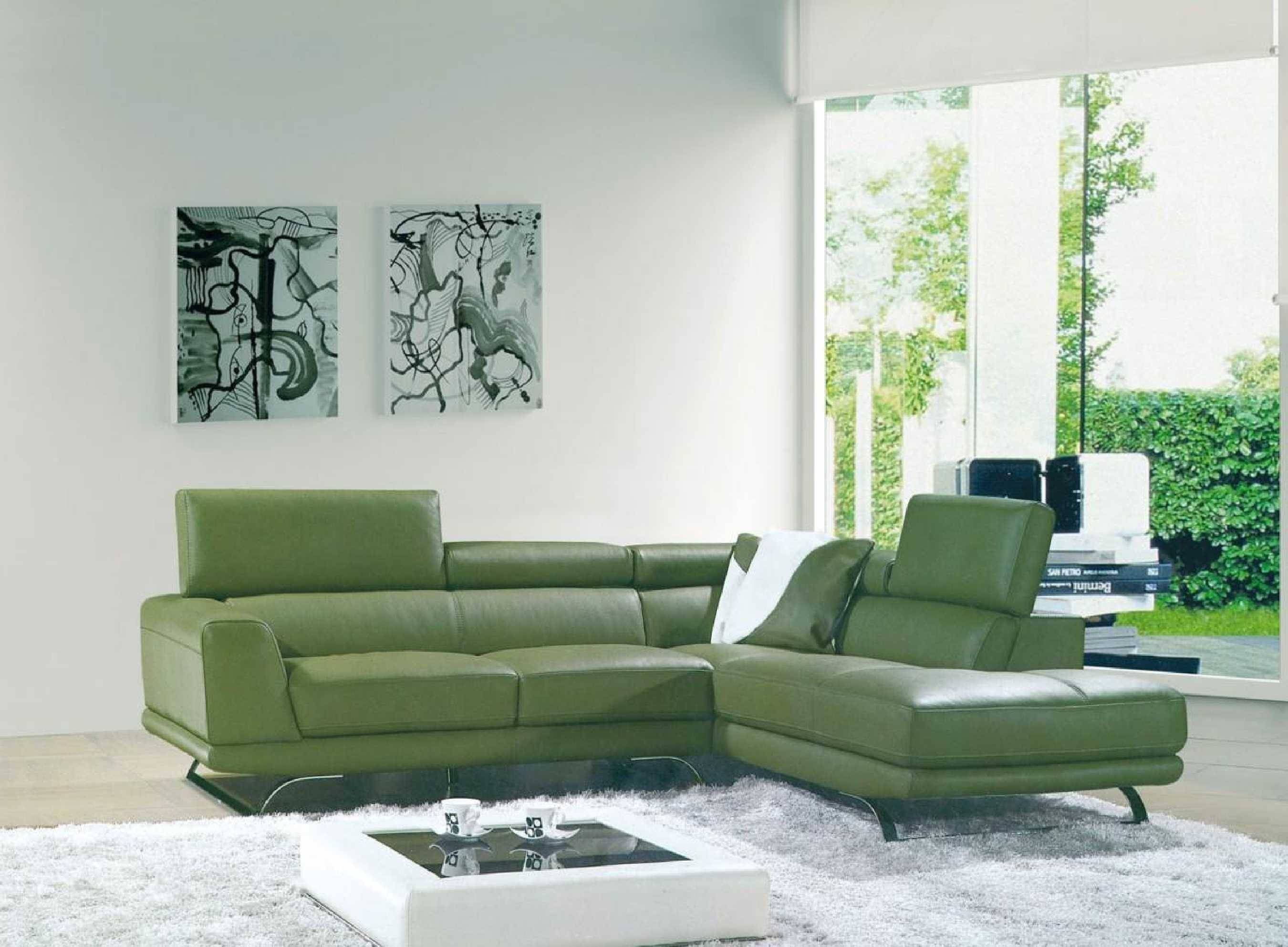 Green Settee Best 15 43 Of Green Leather Sectional Sofas