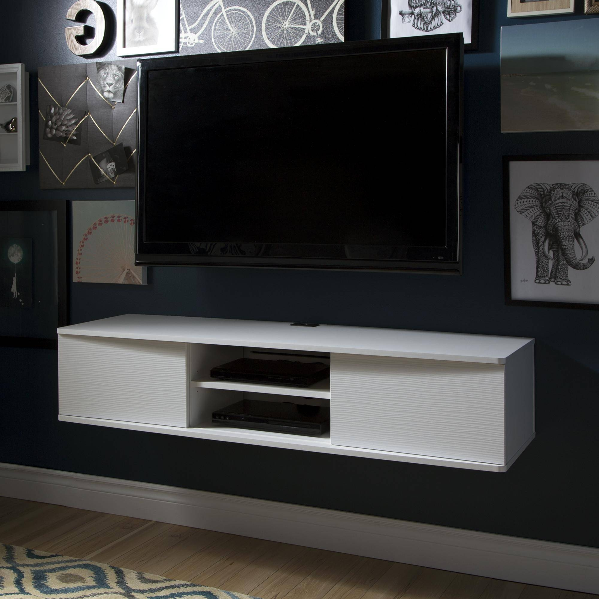 Hanging Media Console 15 Best White Wall Mounted Tv Stands