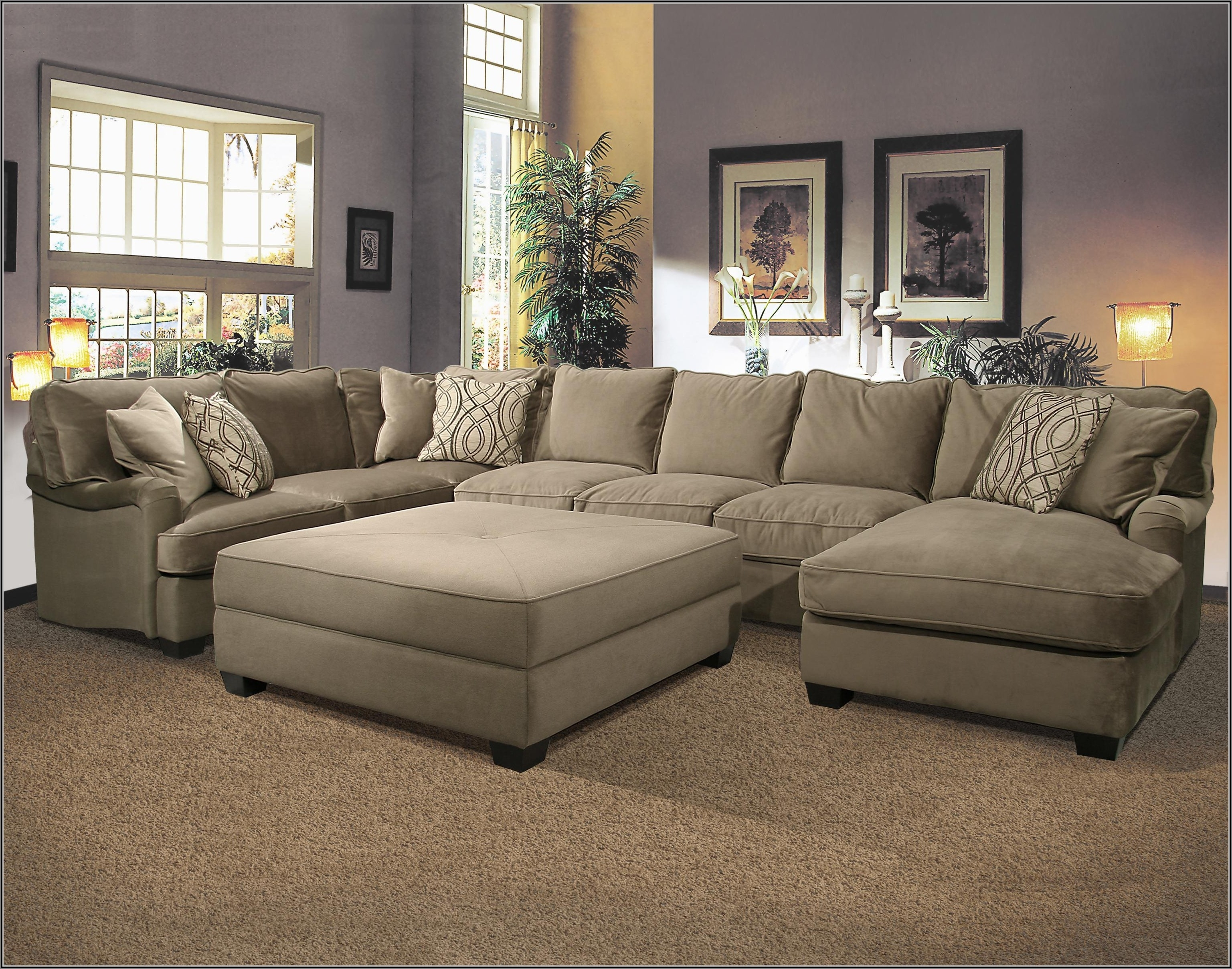 U Couch 15 Best Collection Of Big U Shaped Couches