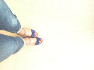 sandales bleues