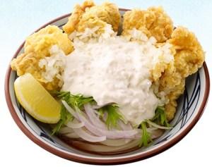 丸亀製麺 「タル鶏天ぶっかけ」