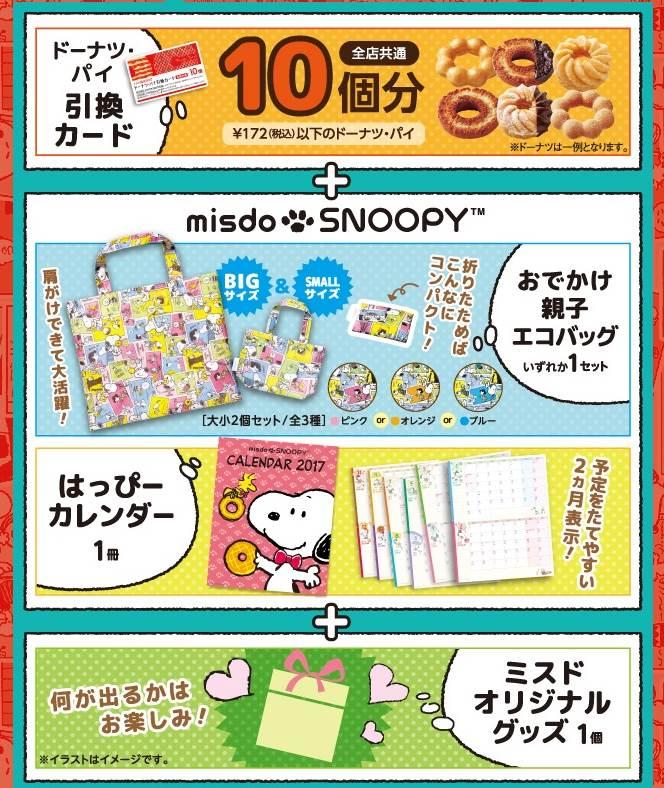ミスドの福袋2017、1080円福袋2