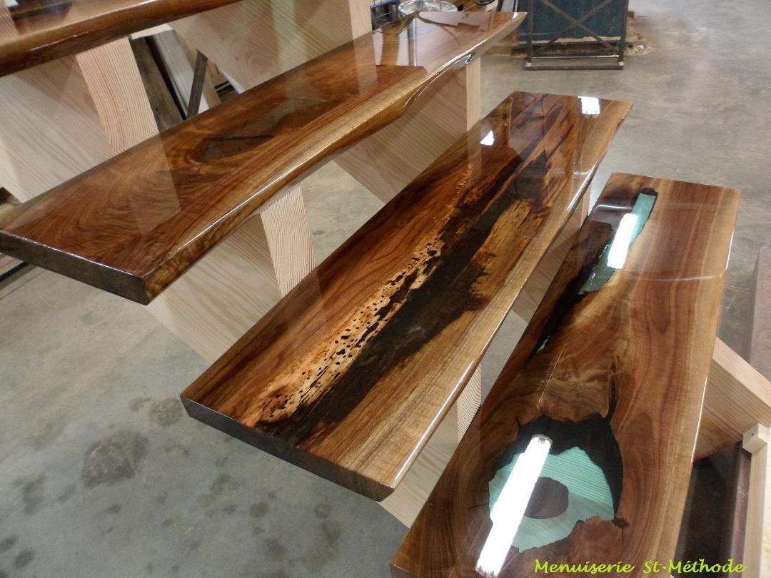 table bois epoxy. Black Bedroom Furniture Sets. Home Design Ideas