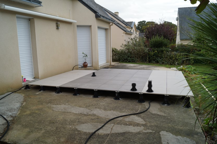 Dalle Siena Leroy Merlin Terrasse Carrelage Exterieur. Good Cration Dune Terrasse