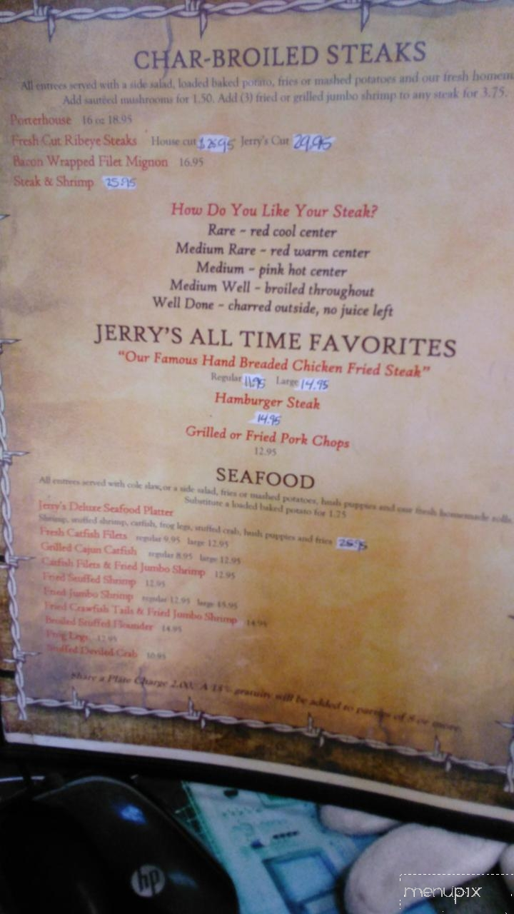 Online Menu Of Jerry S Restaurant Onalaska Tx