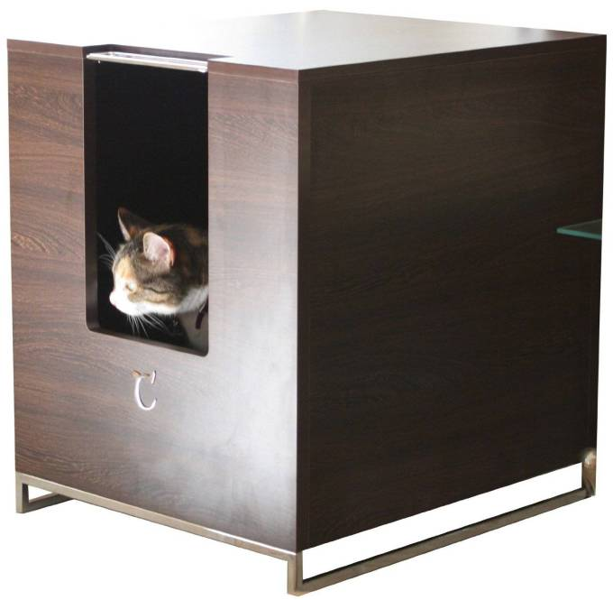 Covered litter boxes pros and cons meow lifestyle - Modern kitty litter box ...