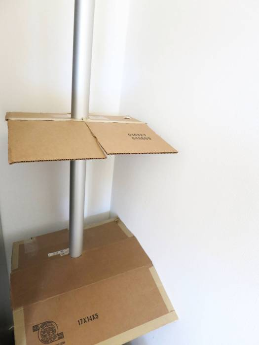 cat tree ikea stolmen hack