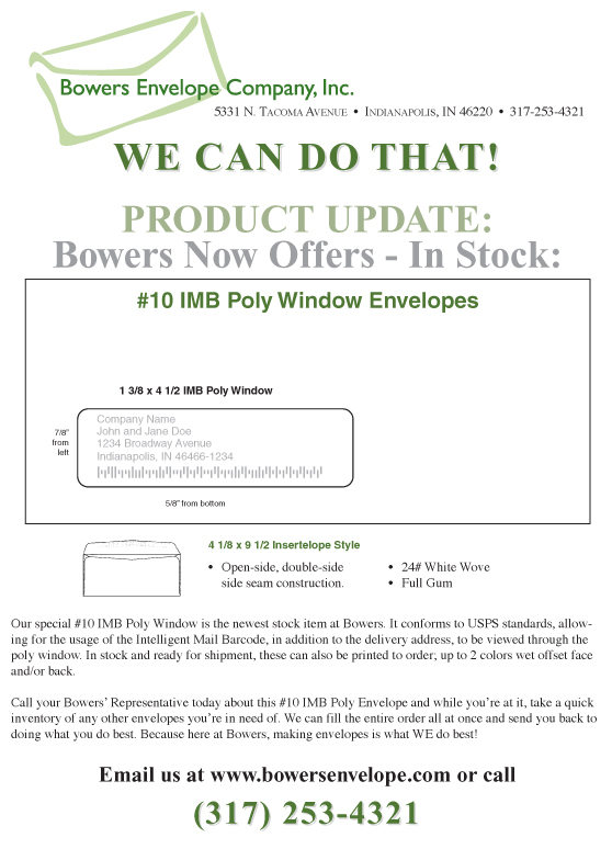Bowers Envelope Company Manufacturing Extension Partnership