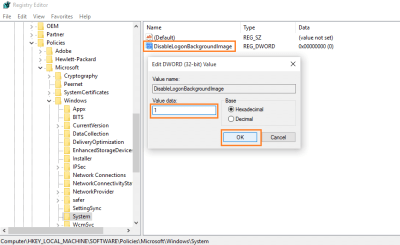 How to change windows 10 login screen background
