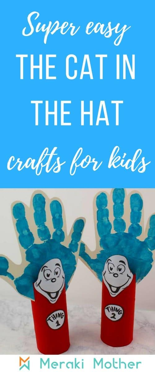 Fun and Easy Dr Seuss\u0027 Cat in the Hat Crafts - Thing 1 and Thing 2
