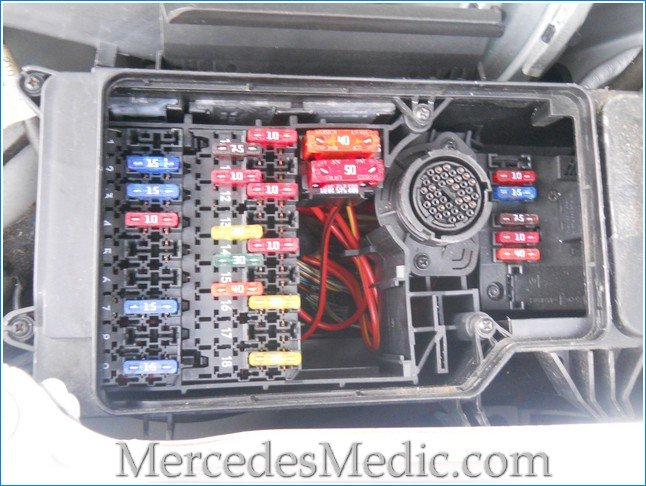 E Class (1996-2002) W210 Fuse Box Chart Location Designation Diagram