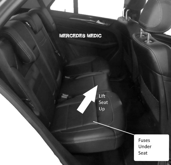 Fuse Relays M-Class W166 2012-Present Mercedes-Benz ML 250 350 400