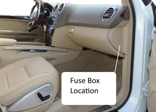 Fuses W164 M-Class 2006-2011Benz Box Location Fuse Chart