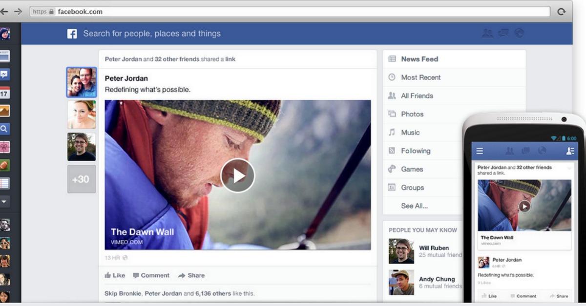 Facebook cambia de nuevo: Usará información de móviles