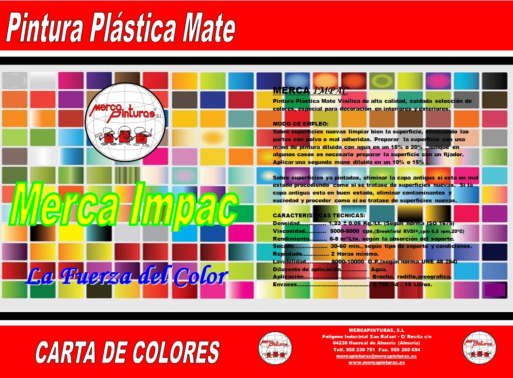 Pinturas Decolor Cartas De Colores Mercapinturas