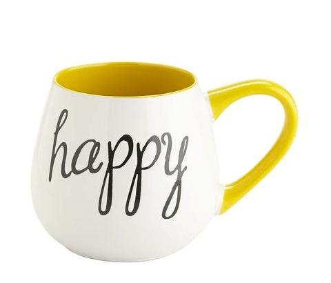 tazza HAPPY gialla
