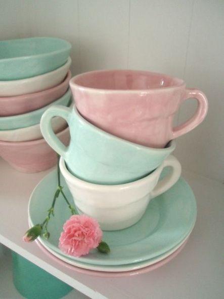 tazze colori pastello