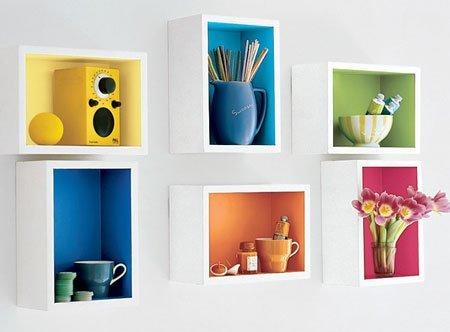 Rainbow wall shelf