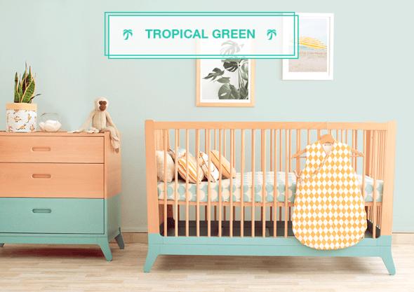 Lettino Tropical Green nobodinoz