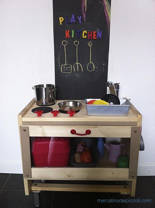 Come ho costruito la cucina giocattolo per i miei bambini mercatino dei piccoli - Cucina ikea per bambini ...