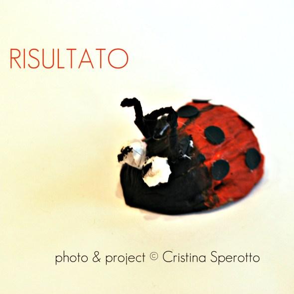 RISULTATO+coccinelle+riciclo creativo+guscio noci+cristina sperotto