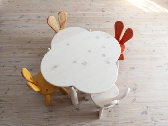 sedie coniglietto hiromatsu design x bambini