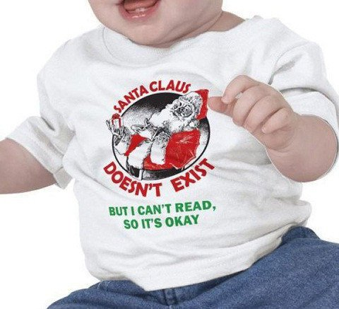 maglietta santa claus doesn't exist