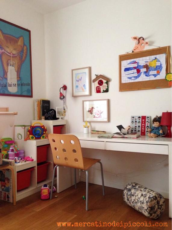 13 scrivanie e ispirazioni per l 39 angolo studio mercatino - Angolo studio ikea ...