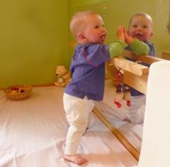 specchio per bambini con sbarra