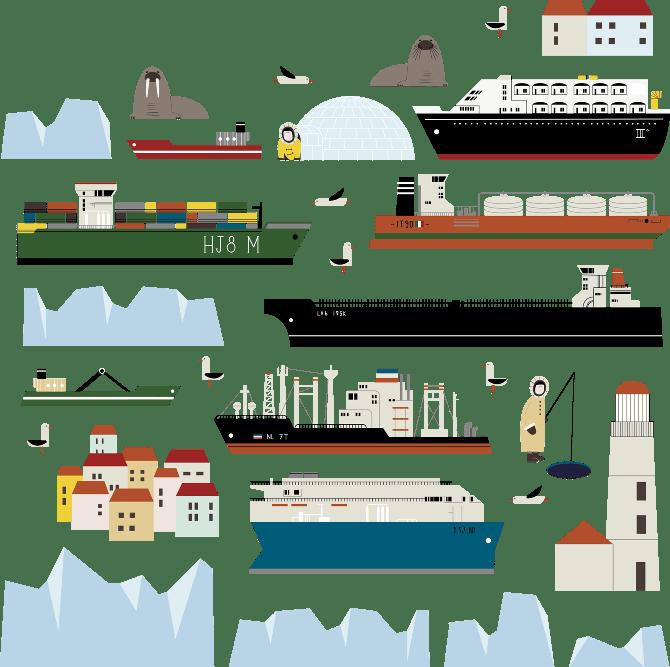 Polar Route adesivi riposizionabili
