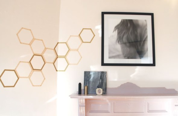 honeycomb_washitape_wall_decal