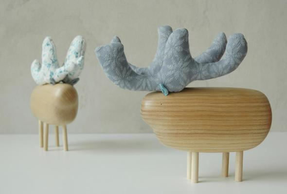 renne poleno animali legno wood animals