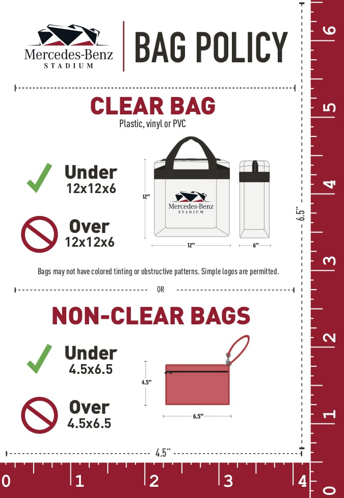 CLEAR BAG POLICY - Mercedes Benz Stadium