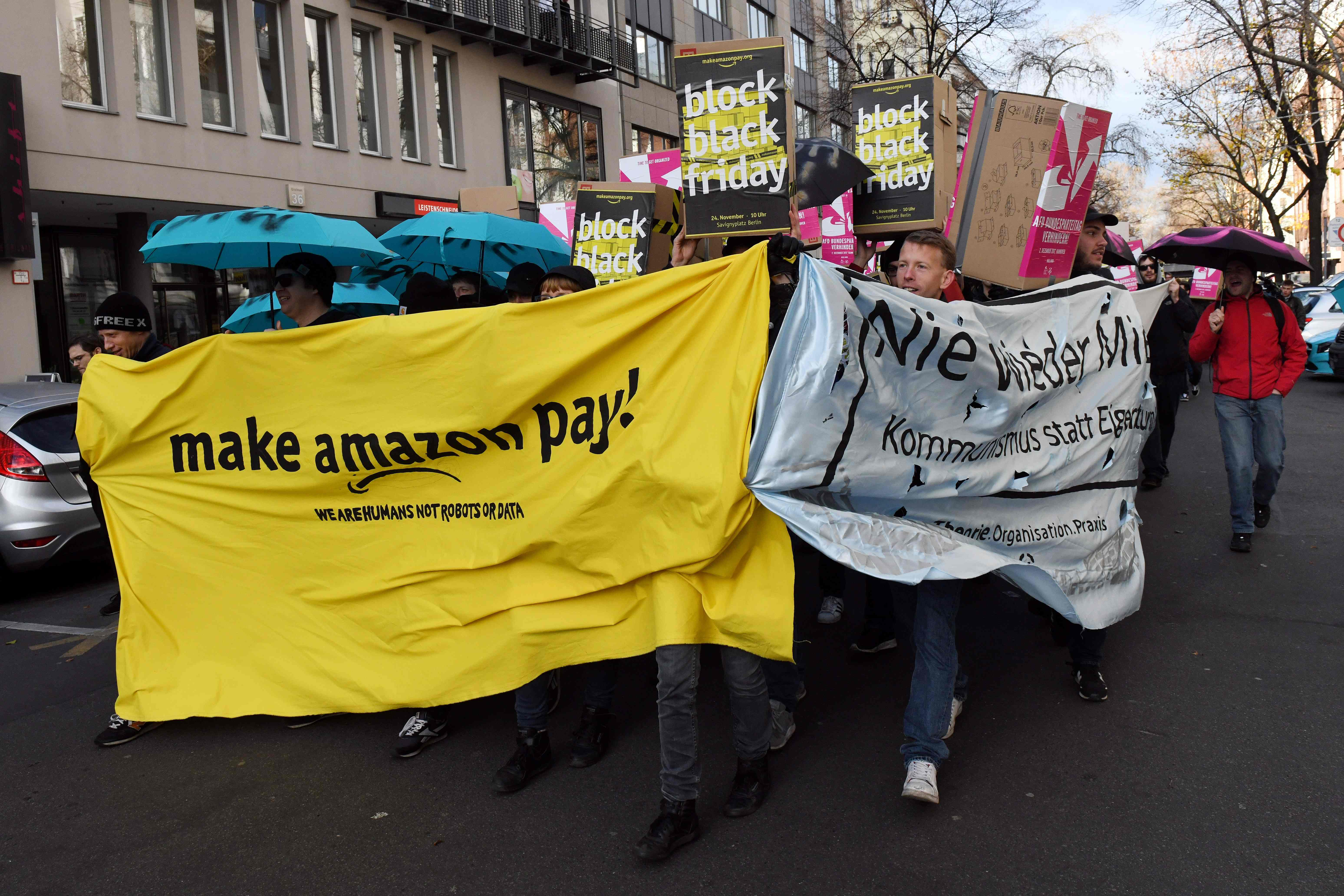Black Friday In Germany Amazon Workers In Germany Italy Stage Black Friday Strike The