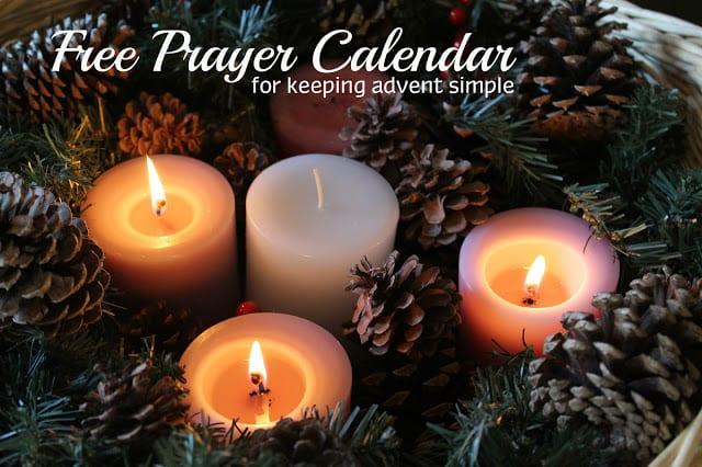 FREE Printable Advent Prayer Calendar {For Keeping Advent Simple}