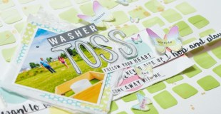Scrapbooking Process: Washer Toss (Make an Impact Class)