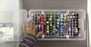 Art Bin Marker Storage Satchel (Copic Marker storage)