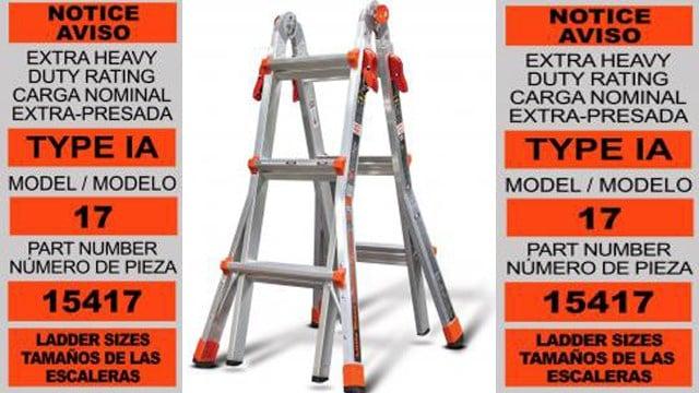 Little Giant ladders recalled for fall hazard - Western Mass News