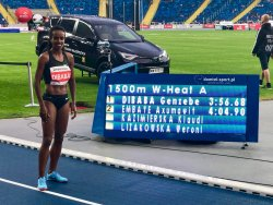 Genzebe Dibaba in Poland