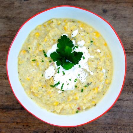 Homemade Corn Chowder Soup Recipe