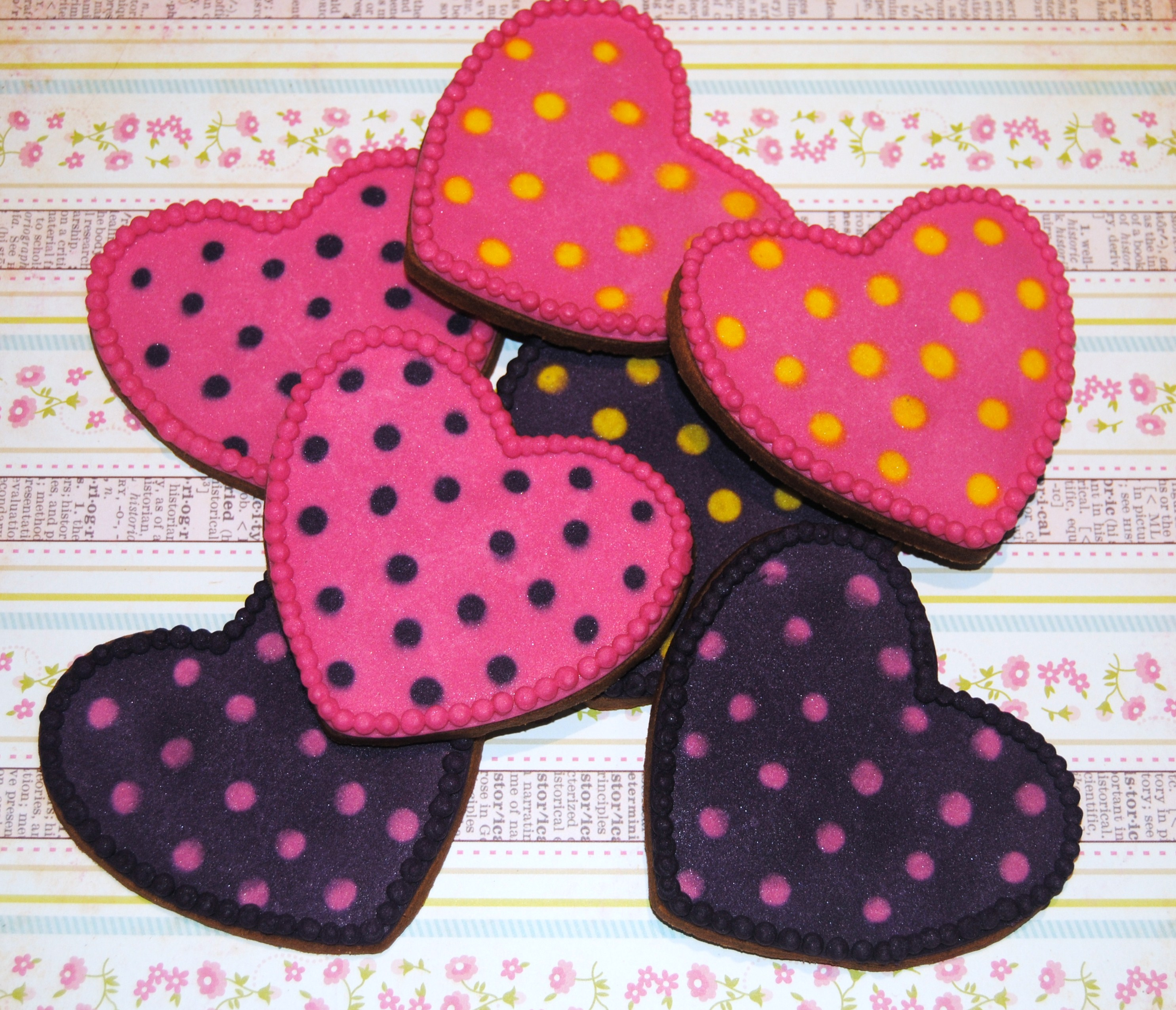 Galletas De Corazon Decoradas Galletas De Corazones Y Estrellas Cookie Hearts And Stars
