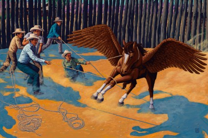 Chestnut Mare by Jeff Jordan, Limited Edition print from original acrylic painting.